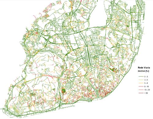 mapa carris lisboa pdf Mapa dos declives de Lisboa   Menos Um Carro mapa carris lisboa pdf