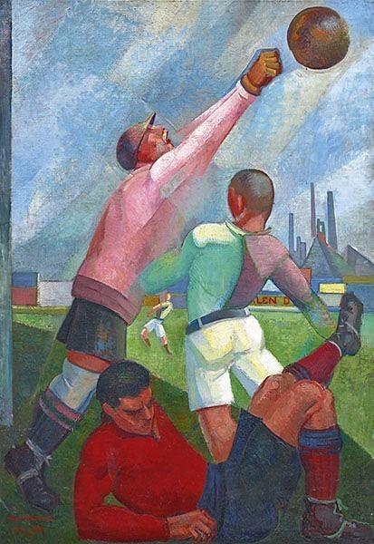 Ángel Zárraga, Futbolistas en el Llano, 1922.jpg