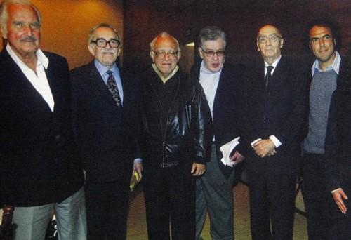 Carlos Fuentes, Gabriel García Márquez, Carlos Monsiváis, José Emilio Pacheco, José Saramago, Alejandro Iñárritu