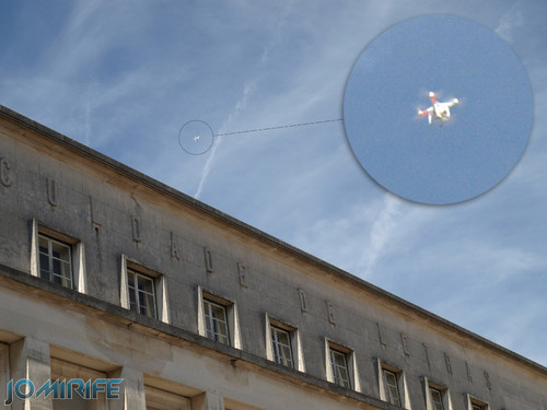 Drone sobra a Faculdade de Letras da Universidade de Coimbra