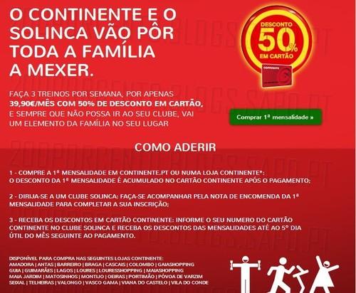 Promoção | CONTINENTE/SOLINCA | de 2 janeiro a 28 fevereiro