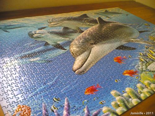 Puzzle dos Golfinhos com 1500 peças (2)