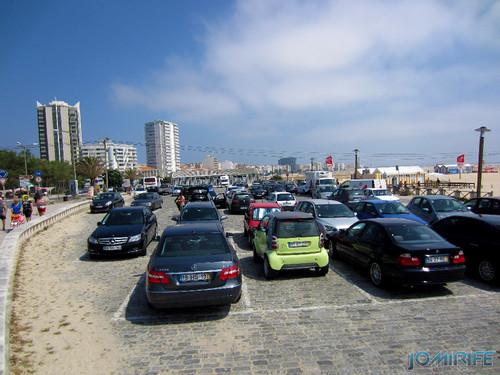 Figueira da Foz: Estacionamento de Carros no Parque da Praia de Buarcos é pago todos os dias no verão (2) [en] Car Park in the park of the beach in Buarcos is paid every day in Figueira da Foz, Portugal