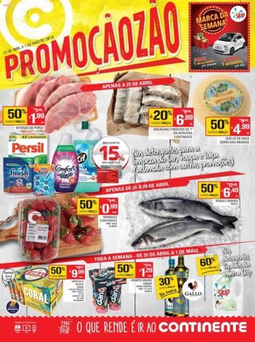 Antevisão Folheto CONTINENTE Madeira de 25 abril
