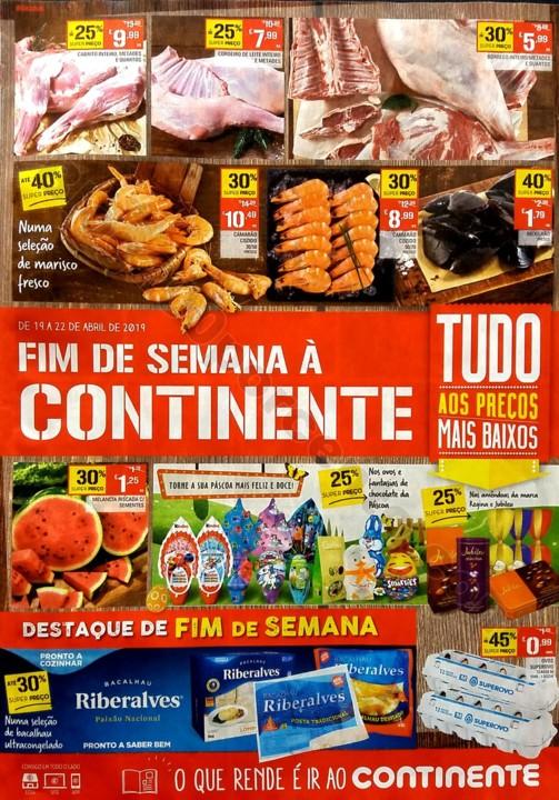 Antevisão folheto continente fim de semana 19 a 2