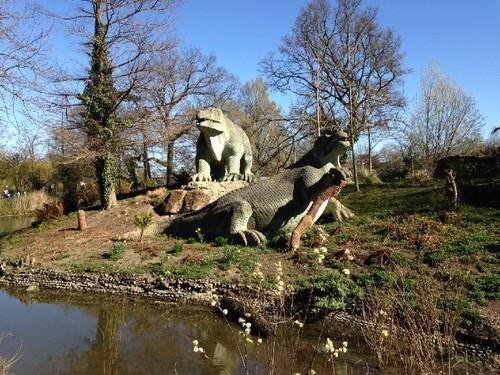 Dinosauros no parque de Crystal Palace