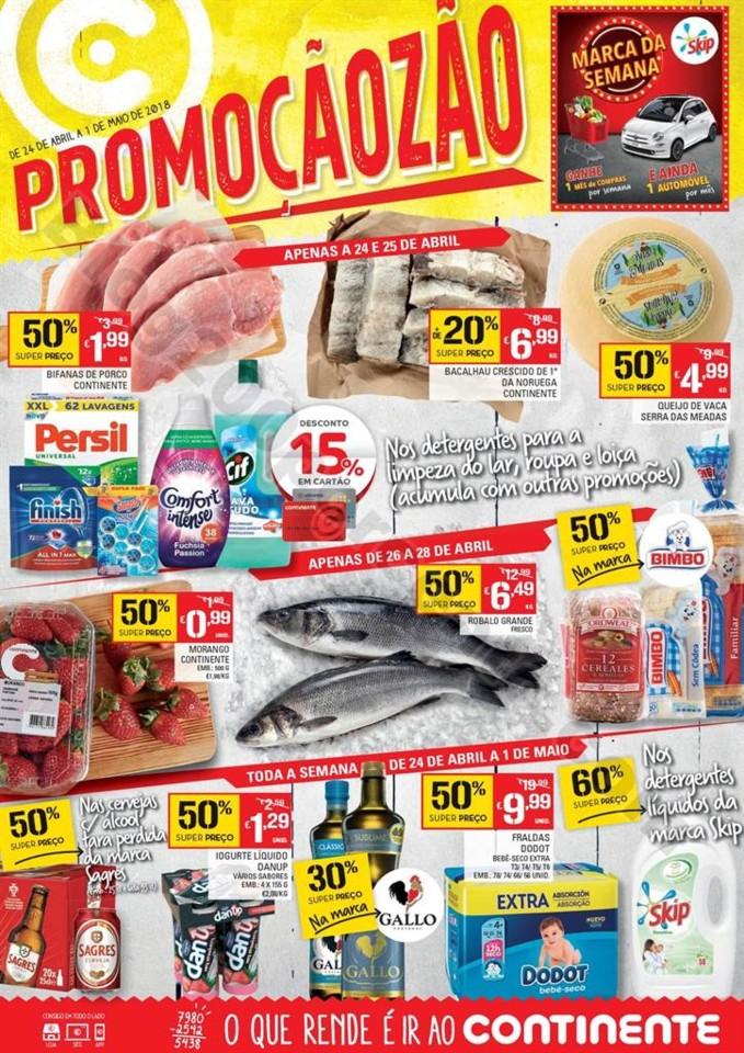 Antevisão Folheto CONTINENTE Promoçãozão de 24