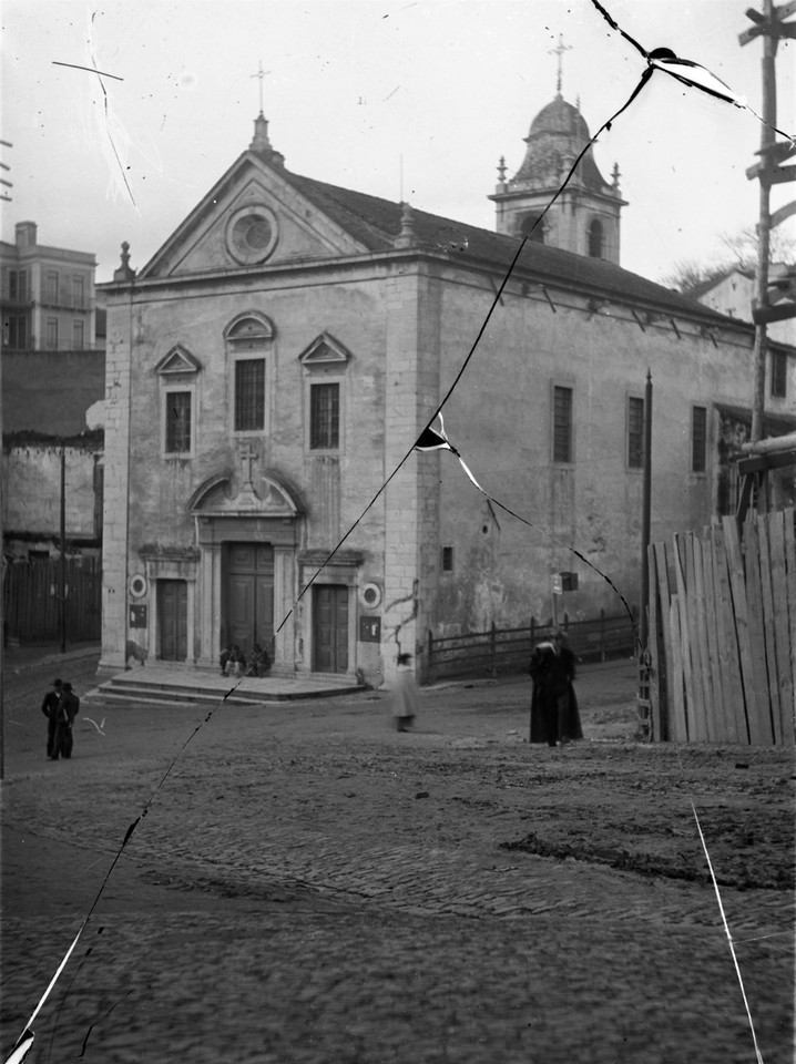 Antiga Igreja dos Anjos, fachada principal ant a 1