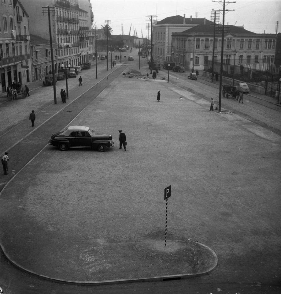 Local após as demolições, 1953, foto de Judah B