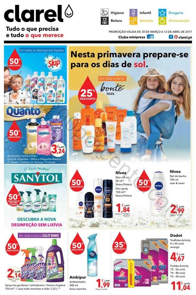 Antevisão Folheto CLAREL Promoções de 30 março