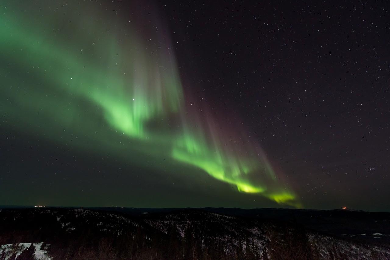 Aurora na Islândia