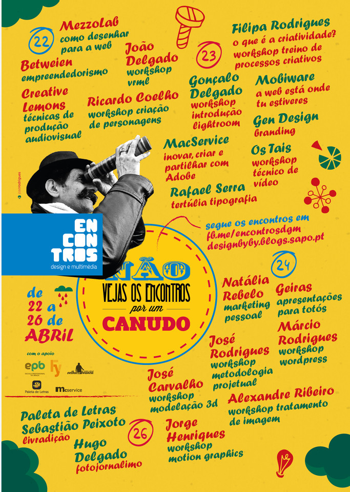 Cartaz Encontros Design e Multimédia 2013