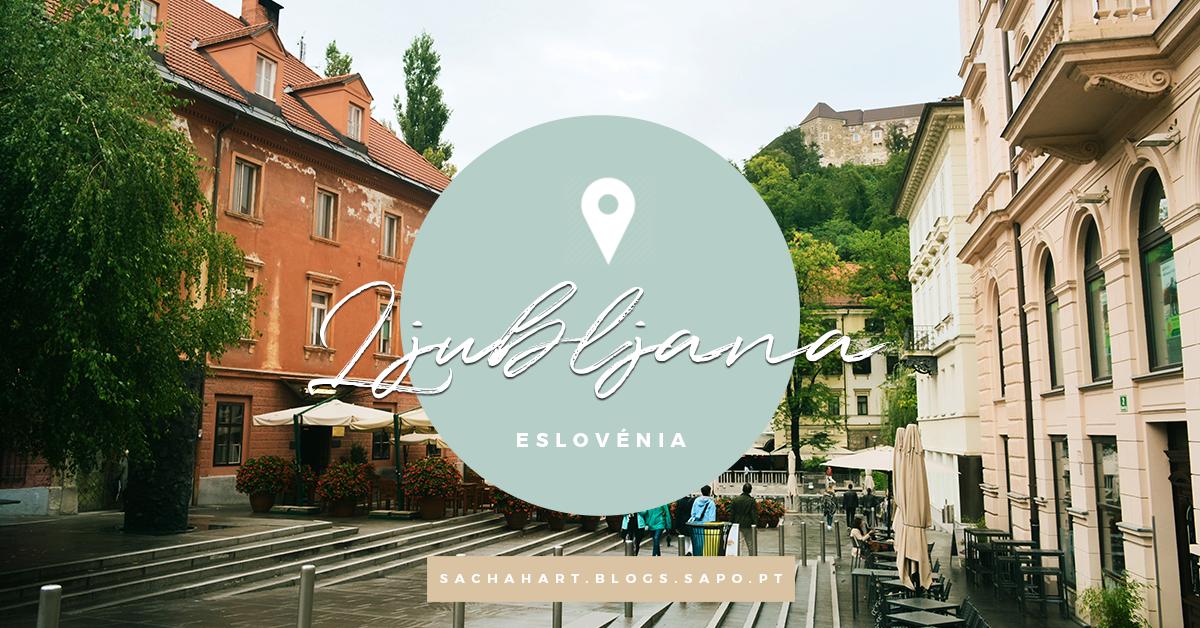 Atravessando pontes em Ljubljana