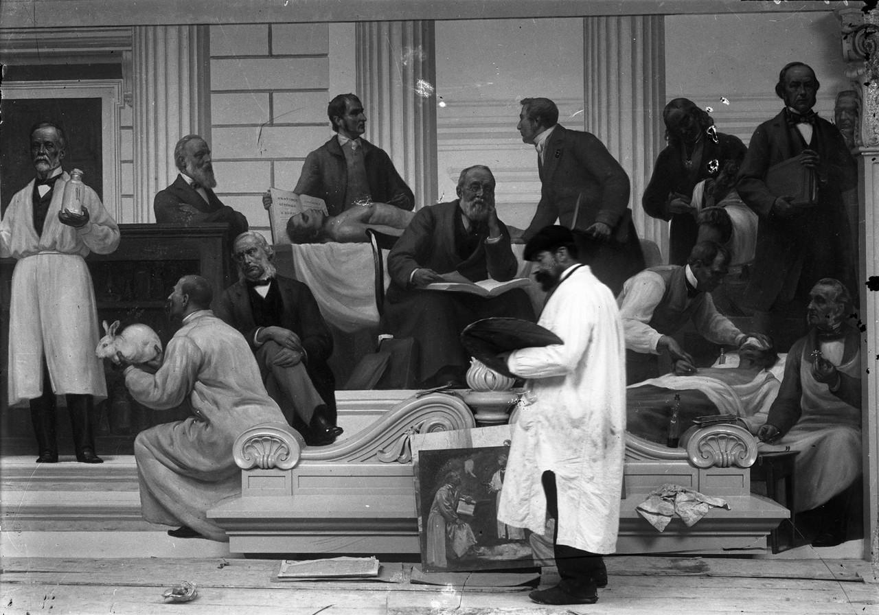 Escola Médica - Pasteur, pintura mural de Veloso