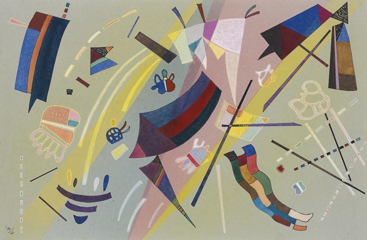 Pintura sem título de Wassily Kandinsky - Sans Titre, 1941