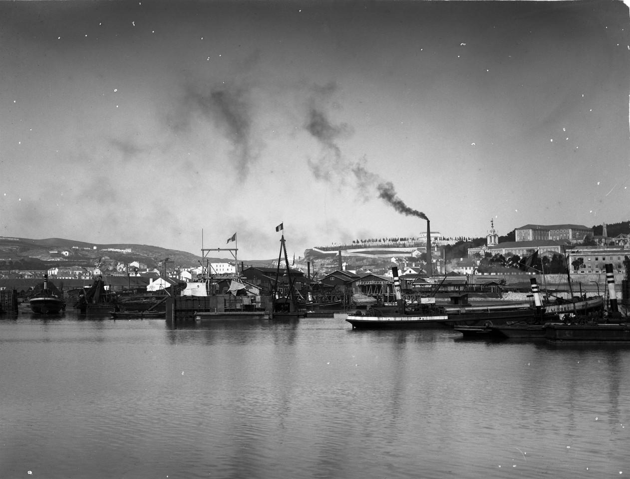 Obras do Porto de Lisboa na Doca de Alcântara, an