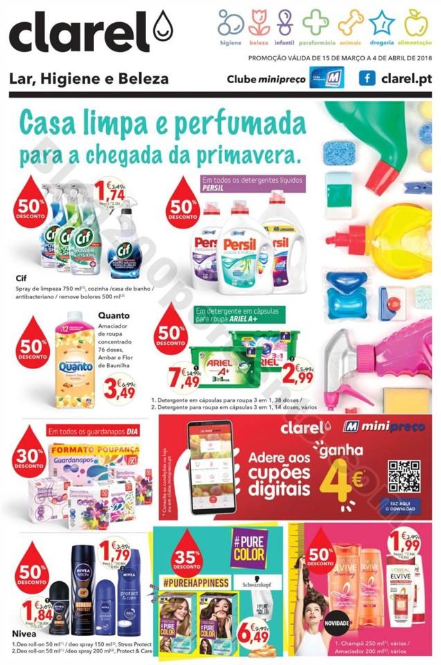 Antevisão Folheto CLAREL Promoções de 15 março