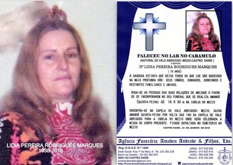 RIP-FOTO  DE LIDIA PEREIRA RODRIGUES MARQUES -79 A