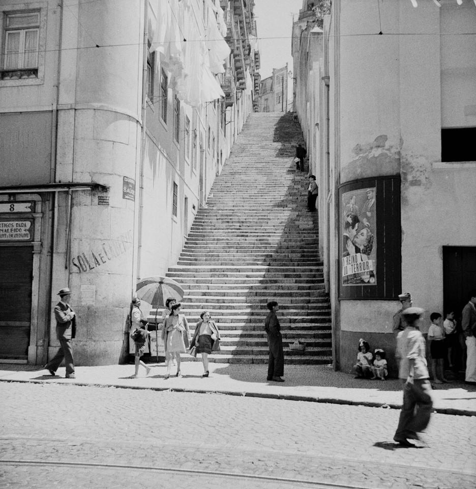 Escadinhas da Saúde, 1945, foto de Fernando Marti