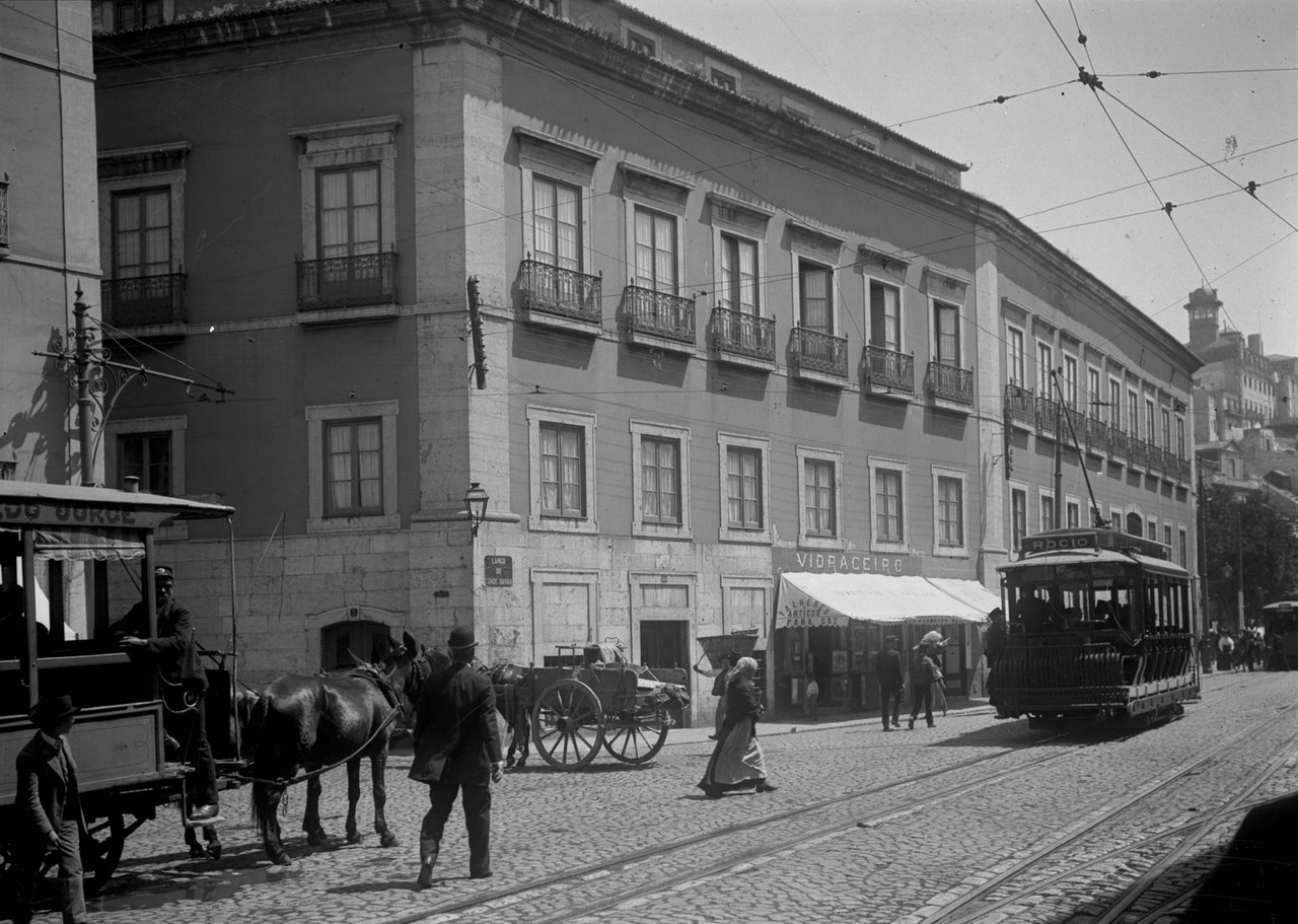 Largo do Conde Barão, 1909, foto de Joshua Benoli