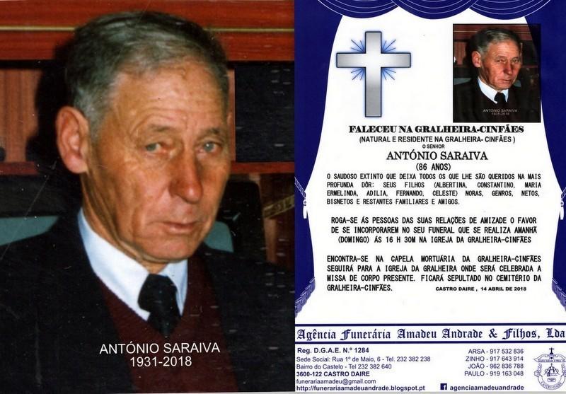 FOTO2 RIP DE ANTÓNIO SARAIVA-86 ANOS (GRALHEIRA).
