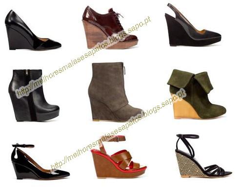 Em cima da esquerda para a direita  Sapato Ponta Bicuda 59 786da928cd4