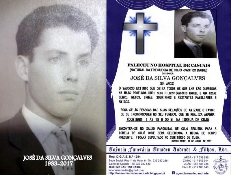 FOTO-RIP DE JOSÉ DA SILVA GONÇALVES-84 ANOS CUJ