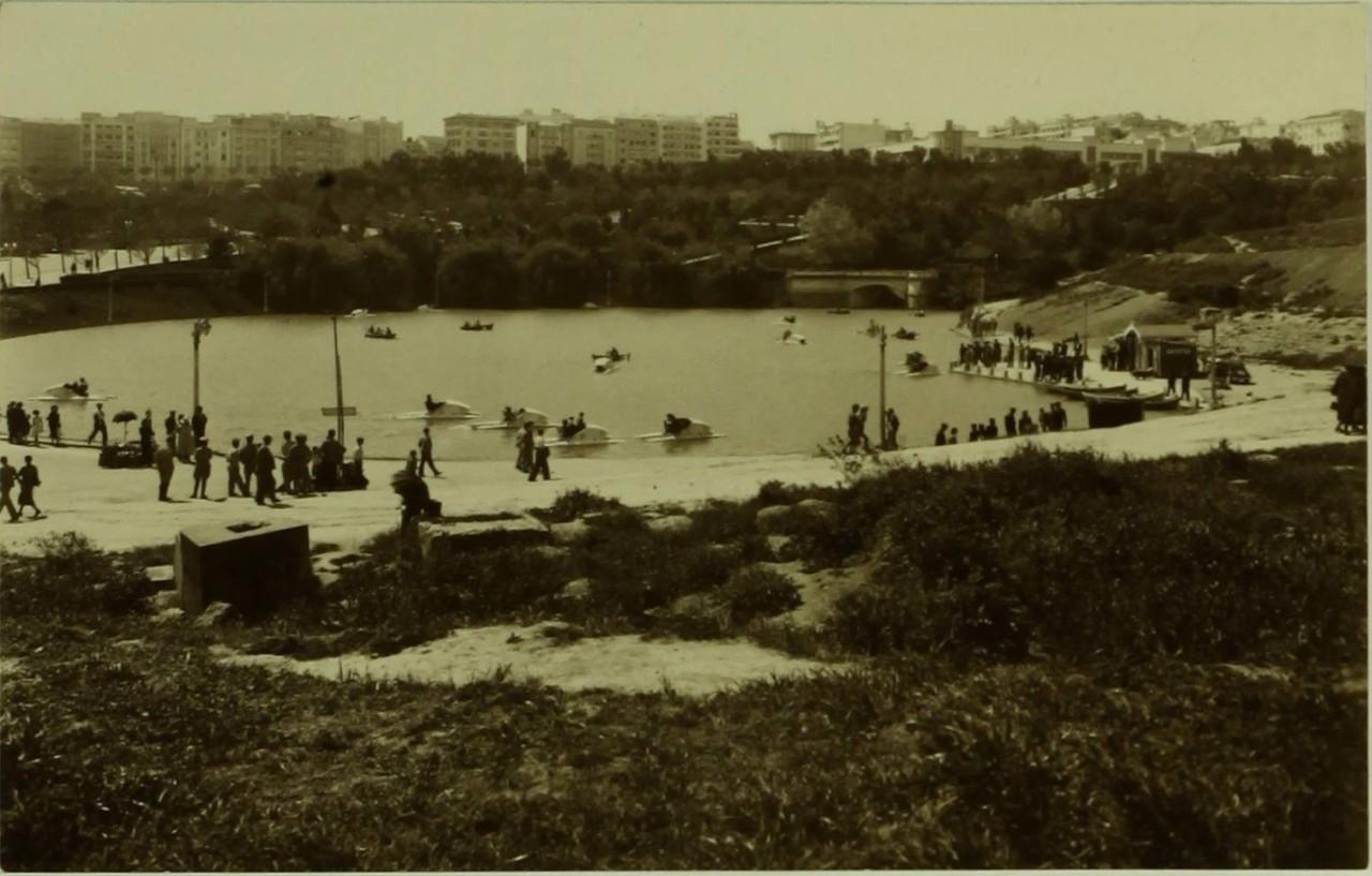 Lago do parque Eduardo VII, 1940, foto da colecç