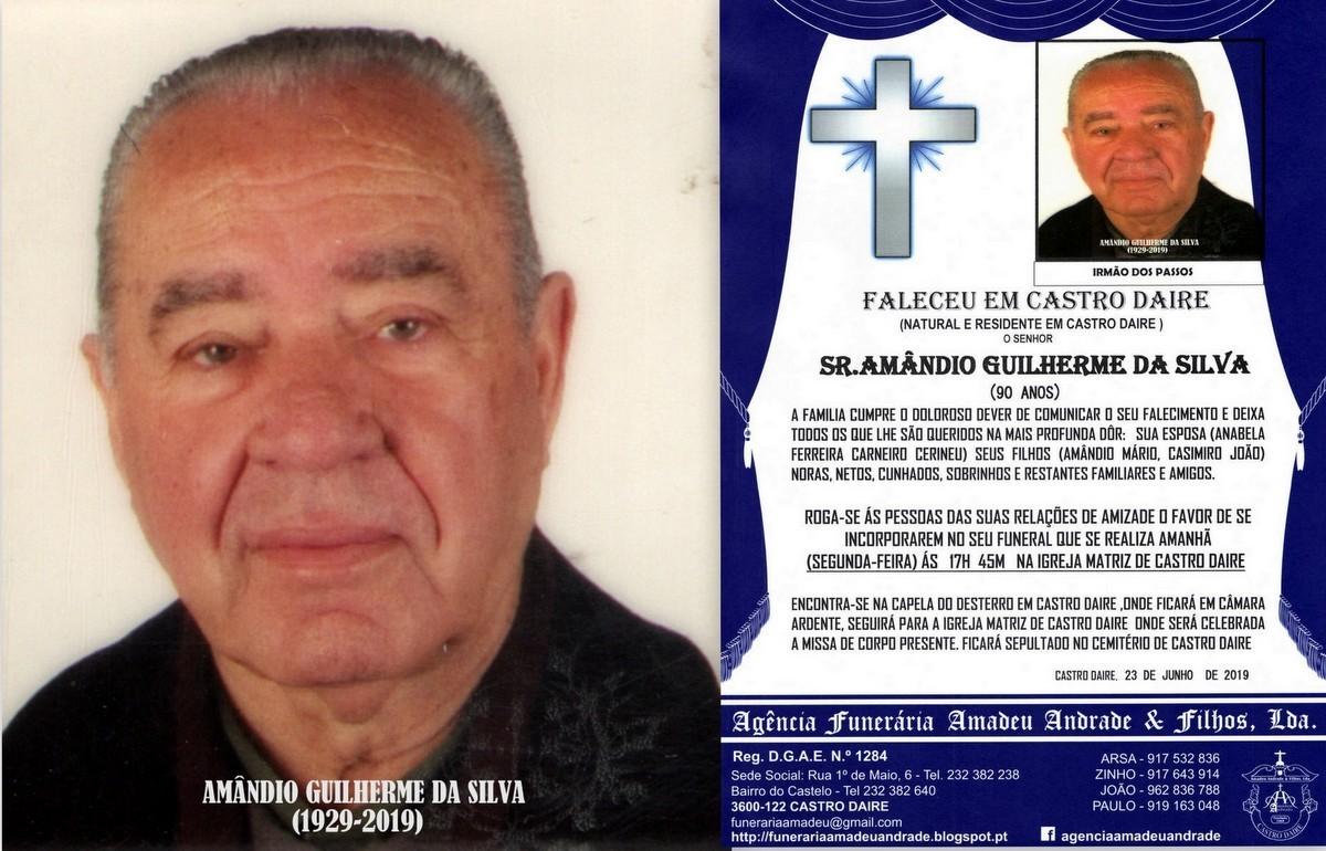 FOTO RIP  DE AMÂNDIO GUILHERME DA SILVA-90 ANOS (