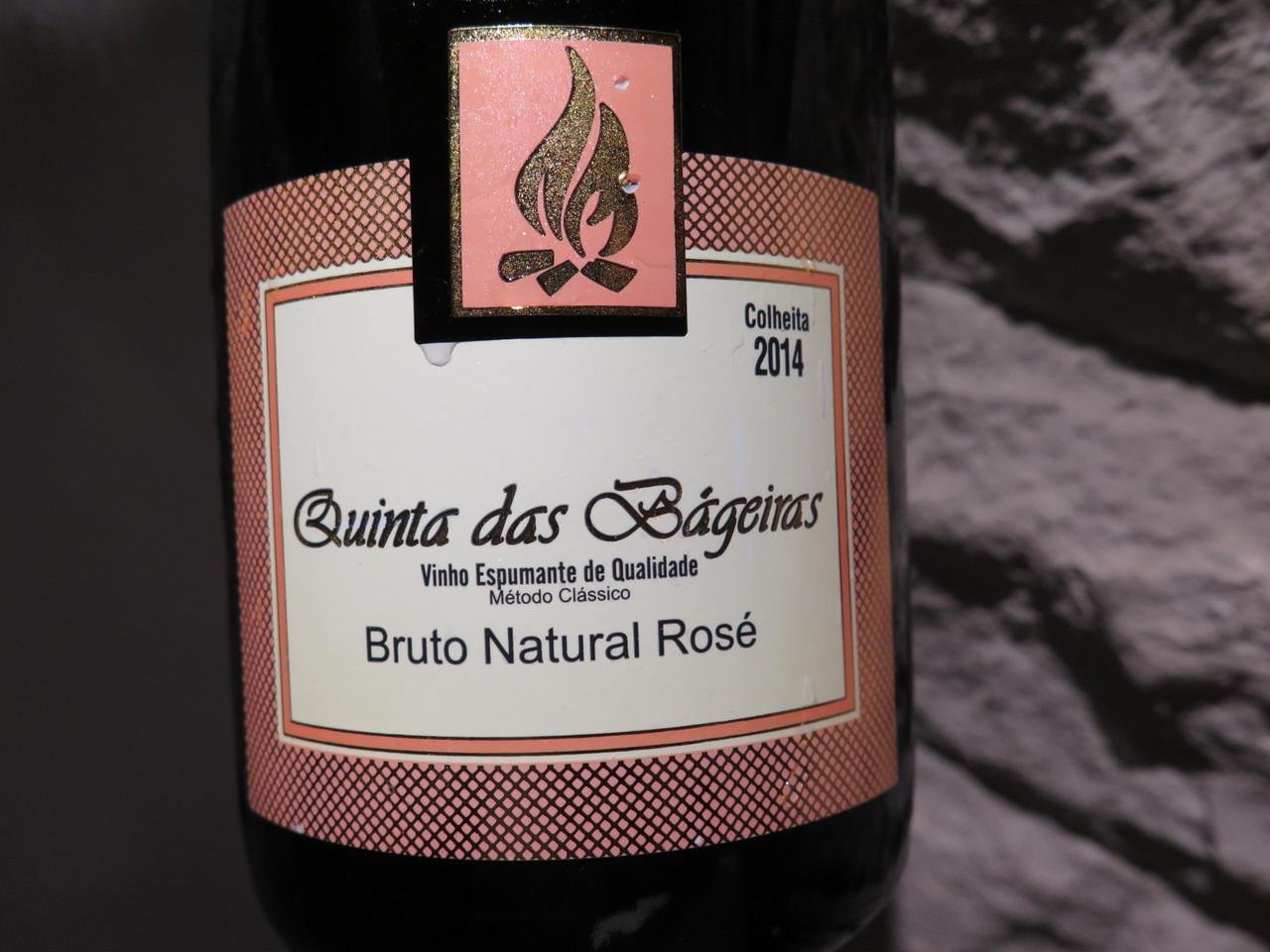 Espumante Quinta das Bágeiras Bruto Natural Rosé 2014