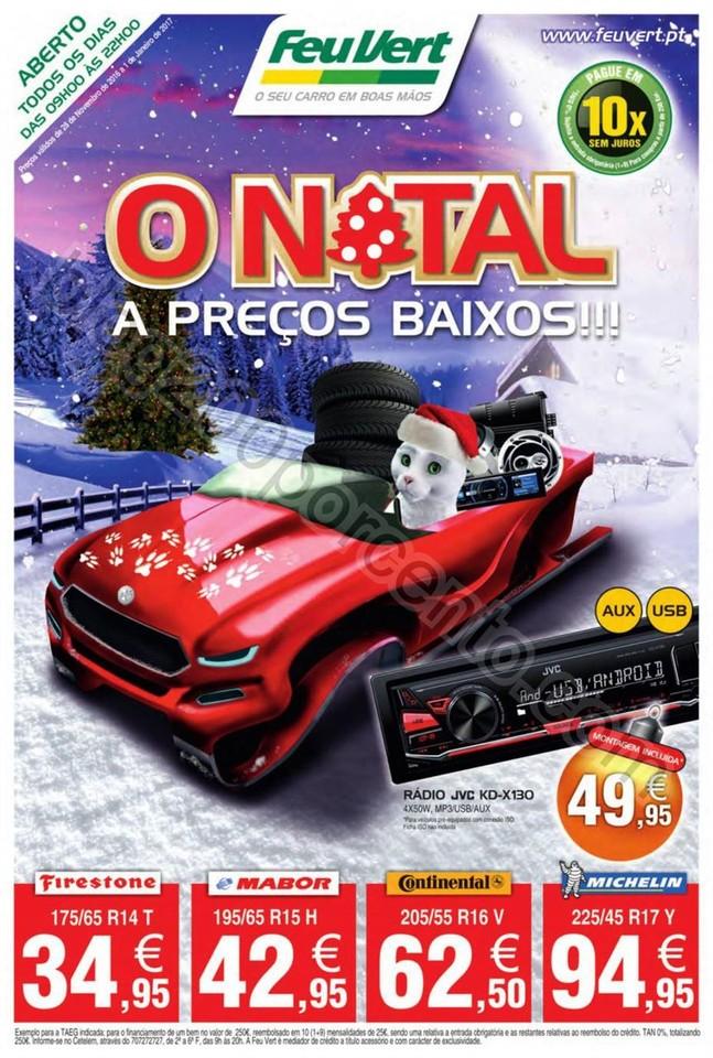 Novo Folheto FEU VERT Promoções Natal de 28 nove