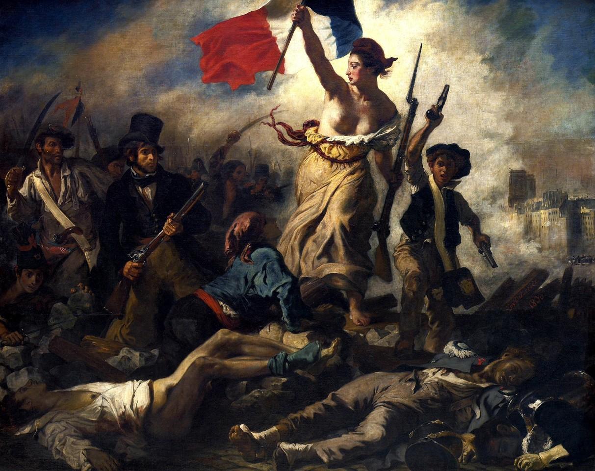 EugèneDelacroix - La liberté guidant le peuple.