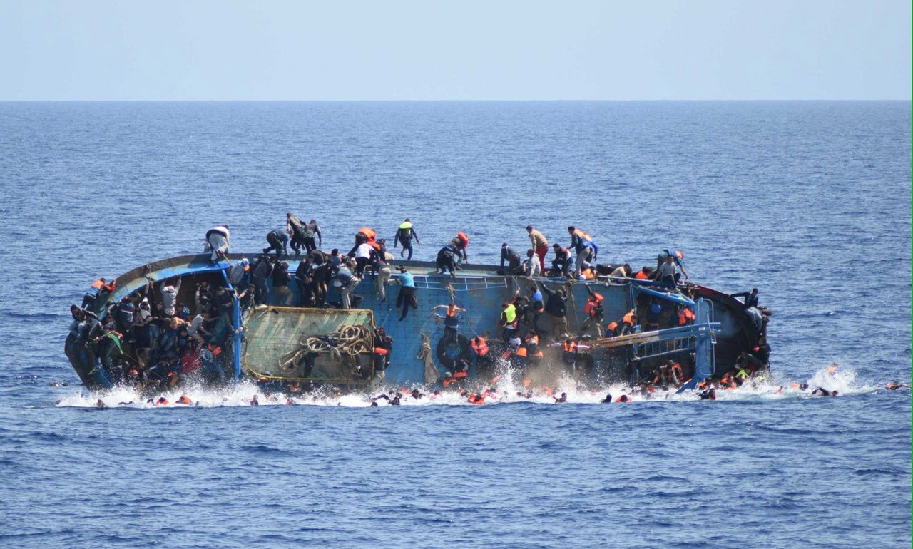 Migrants saved by the navy in Mediterranean | Marina Militare/Anadolu Agency/Getty Images