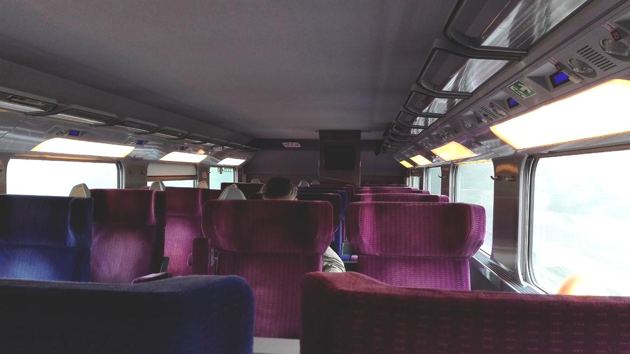 A primeira classe do TGV que liga Paris a Estrasburgo