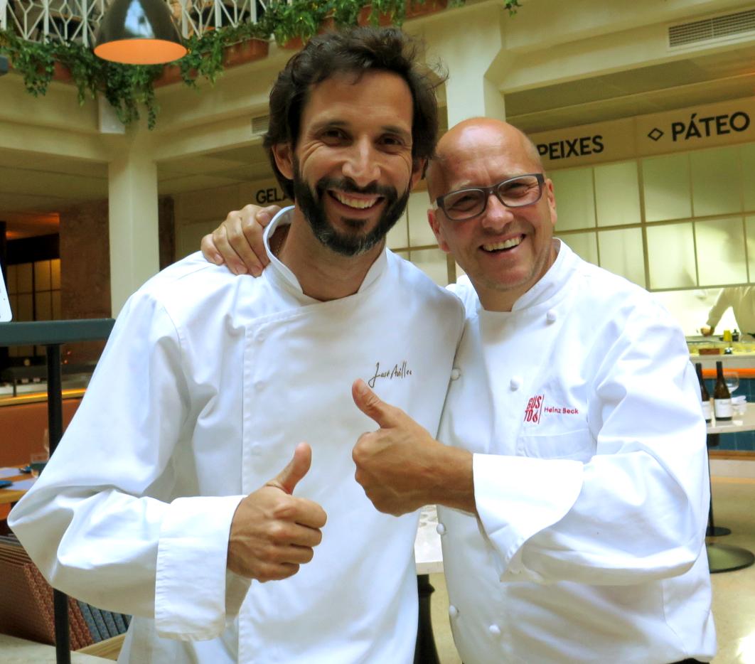 Apresentação do Gourmet Culinary Extravaganza: José Avillez e o anfitrião Heinz Beck