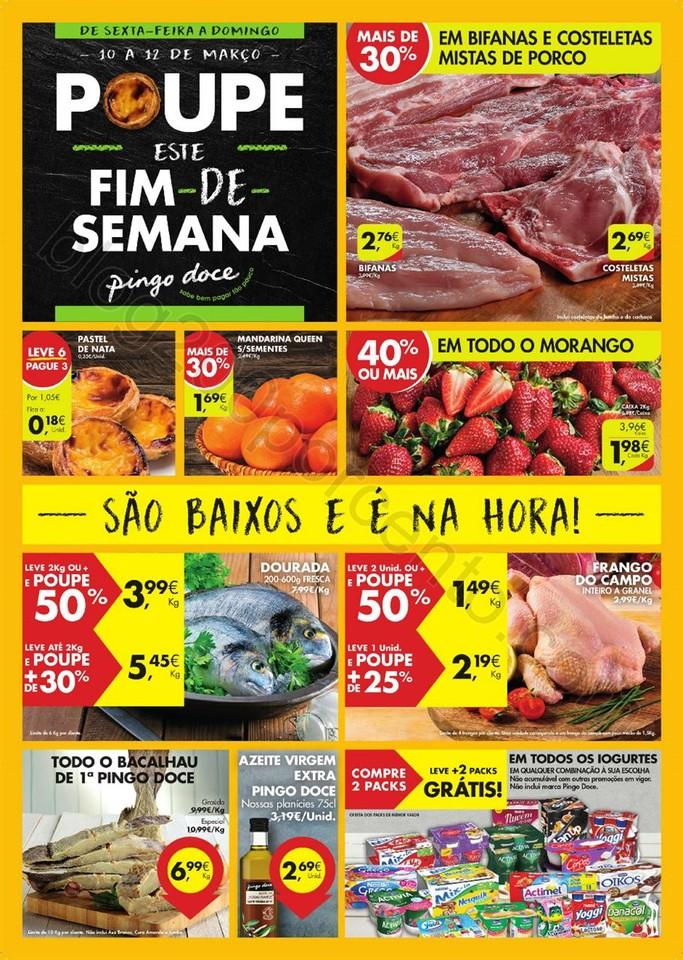 Antevisão Folheto PINGO DOCE Fim de semana de 10
