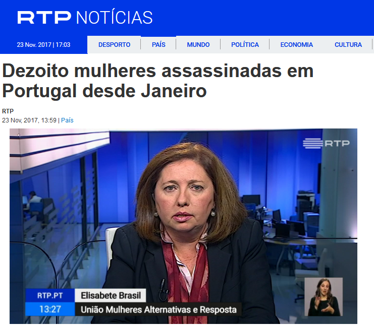 Telejornal, R.T.P., 23/11/2017.
