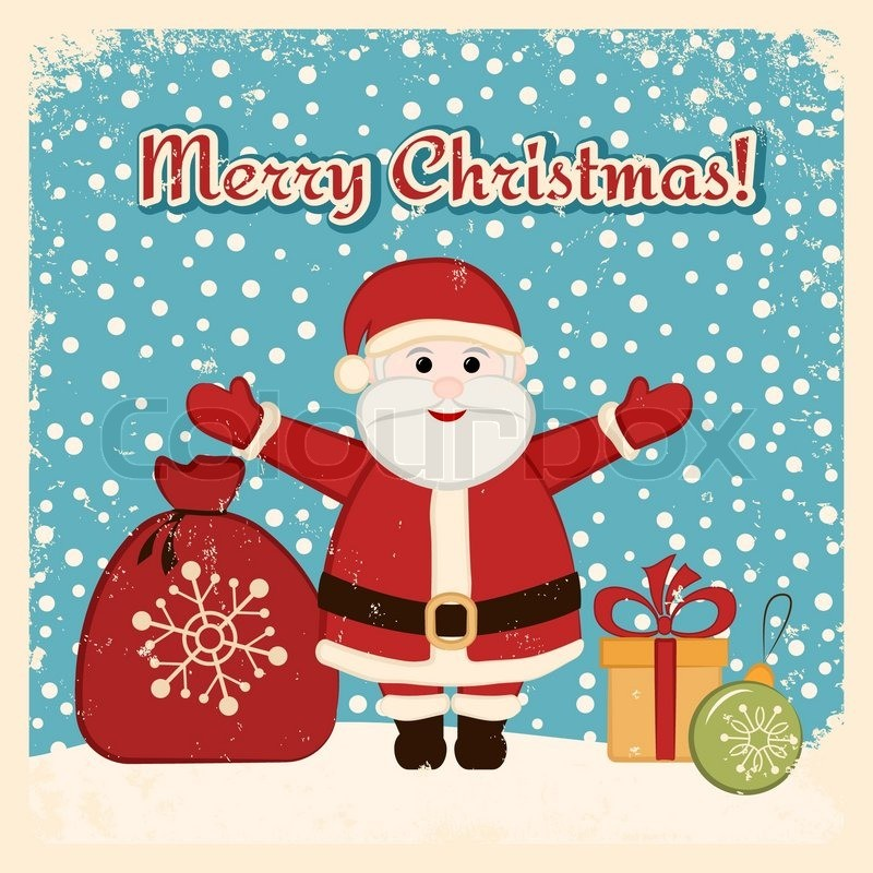 6676197-retro-christmas-card-with-happy-santa-clau
