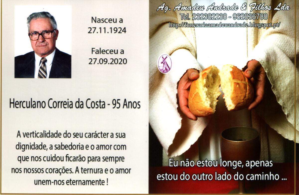 CARTÃO DE HERCULANO CORREIA DA COSTA-95 ANOS (CAS