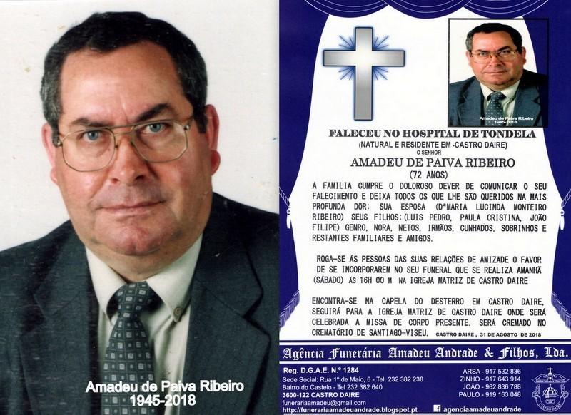 FOTO- RIP- DE AMADEU DE PAIVA RIBEIRO-72 ANOS (CAS