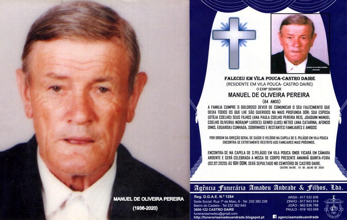 FOTO RIP DE MANUEL DE OLIVEIRA PEREIRA-84 ANOS (VI