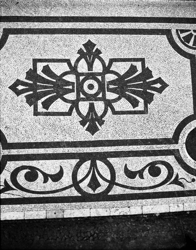 Calçada portuguesa, Parque Eduardo VII, 1944, fot