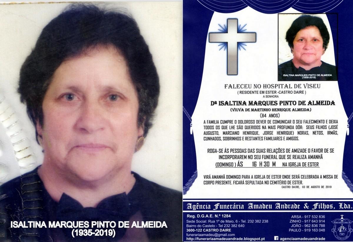 FOTO RIP DE ISALTINA MARQUES PINTO DE ALMEIDA -EST