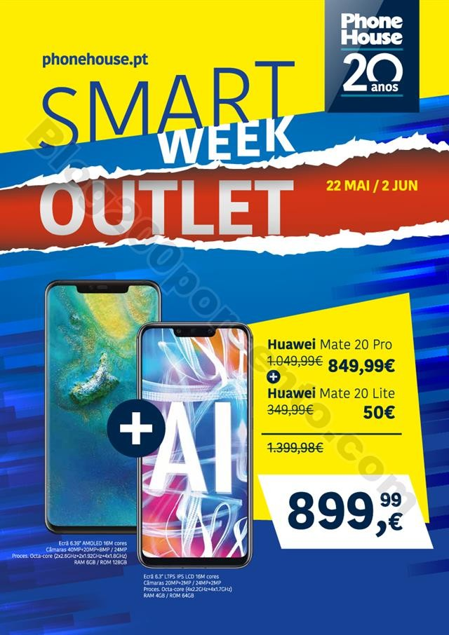 Phone House - Folheto Smart Week Outlet 22-5 a 2-6