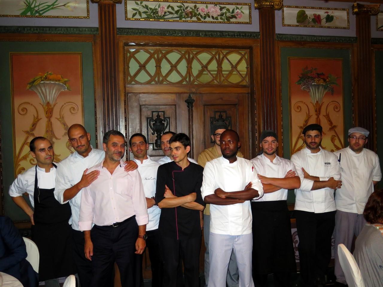 José Gomes e a equipa de cozinha