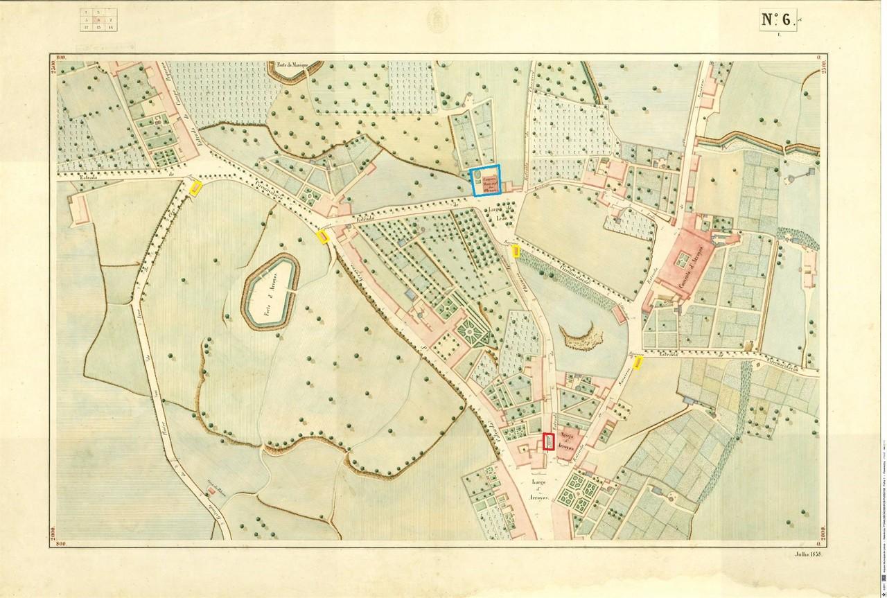 Atlas da carta topográfica de Lisboa,  n.º 6, 18