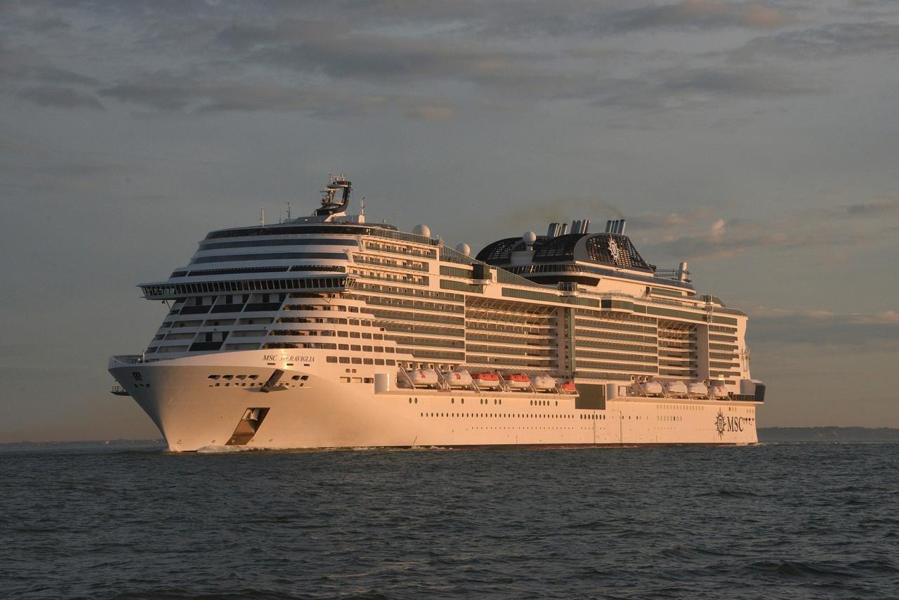 MSC Meraviglia Sea Trials credit Bernard Biger STX