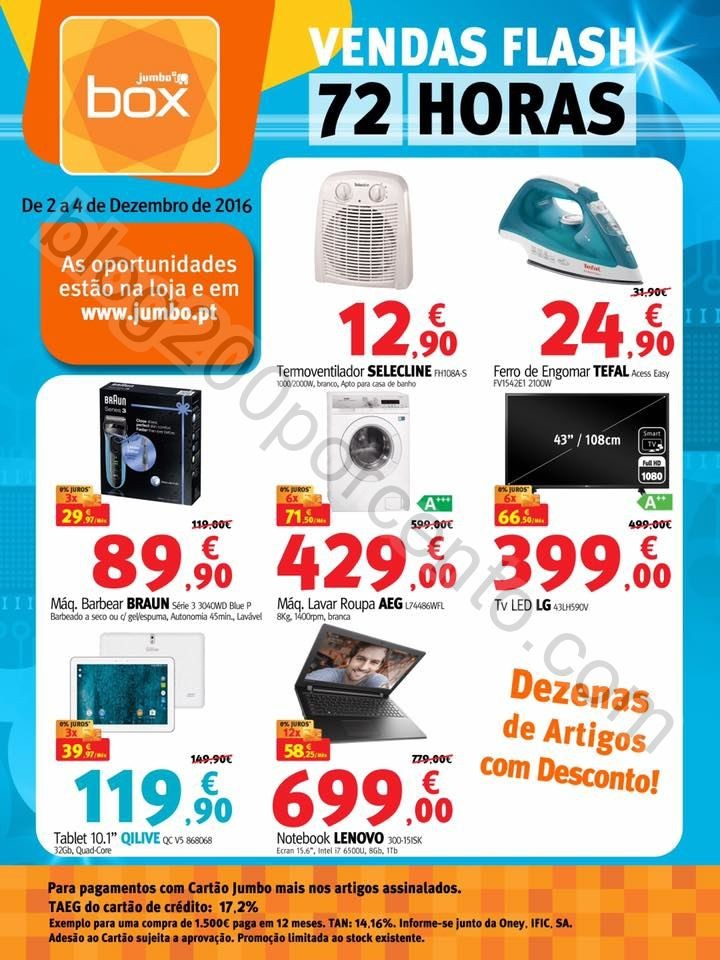 72 horas de descontos BOX - JUMBO de 2 a 4 dezembr