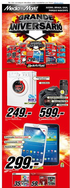 Novo Folheto Media Markt, Aniversário