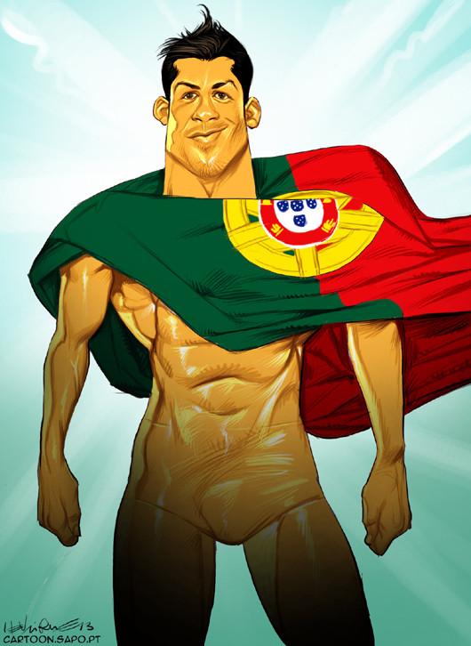 Cartoons - Cristiano Ronaldo - O novo herói de Portugal